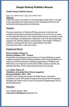 sample desktop publisher resume sample desktop publisher resume