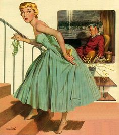 Pin-up, Illustrations, Advertisments, and Other Things that are Not Pulp Covers Pin Up Vintage, Vintage Ads, Vintage Pictures, Vintage Images, Chacun Son Tour, Vintage Illustration Art, Girl Illustrations, Retro Ads, Ad Art