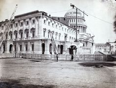 U.S. Capitol under construction, Washington, D.C., south-east view, July, 1863; photo by Andrew J. Russell.