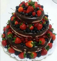 My engagement ♡ Bolo Nacked, Red Velvet, Naked Cake, September 22, Celebration Cakes, Cake Art, Birthday Cake, Candy, Engagement