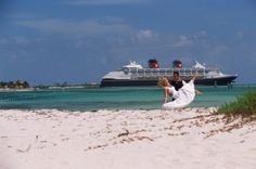 Turn your vows into a tropical fairy tale you'll cherish for years to come. Disney Cruise Line offers romantic Wedding, Vow Renewal, and Commitment Ceremony packages on most sailings. Bahamas Honeymoon, Honeymoon Cruise, Cruise Vacation, Vacations, Cruise Tips, Disney Cruise Wedding, Disney Cruise Line, Disney Weddings, Destination Weddings