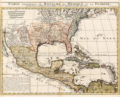 1719 Carte contenant le Royaume du Mexique et la Floride  http://www.hjbmaps.com/collections/antique-maps-united-states/products/1719-carte-contenant-le-royaume-du-mexique-et-la-floride