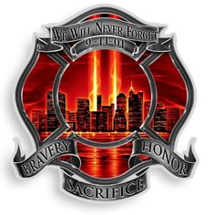 Bravery, Honor and Sacrifice Firefighter Decal
