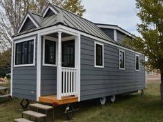Ideas Container House Layout Floor Plans Tiny Homes for 46 tiny house plans for a DIY tiny home - The Wayward Home Buy A Tiny House, Tiny Houses For Sale, Tiny House Living, Living Room, Tiny House Plans Free, Tiny House Trailer Plans, Small Houses On Wheels, Tumbleweed Tiny Homes, House Blueprints