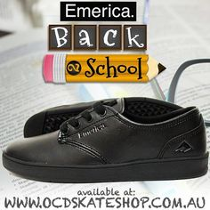 BACK TO SCHOOL  📝  emerica - Romero Laced SMU Shoes Black Black Black -  Full Leather - School Formal Shoe👌  back2school  emerica e8101dd10