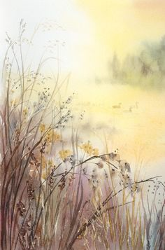 Autumn Pond by louise-art