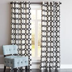 Geometric Yellow And Grey Curtains From Deb