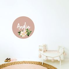A pretty set up with one of our Custom name dots. Boys Room Decor, Kids Decor, Home Decor, Name Wall Stickers, Wall Decals, Change Your Mind, Dots, Nursery, Pretty