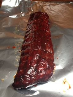 Ribs cooked on Traeger smoker.