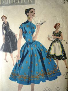 Butterick 7617 sewing pattern - 1950s Bouffant Dress and a choice of finishes