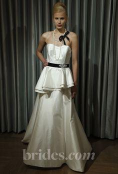 Alyne - Fall 2013 - Gaby Strapless Satin A-Line Wedding Dress with a Peplum Waist  