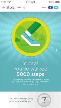 Get goal progress notifications & celebrate fitness milestones with badges…