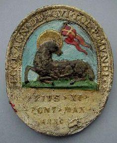 19th C. Agnus Dei Relicario, Reliquary