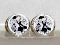 Ohrstecker - Ohrstecker Mary Poppins Ohrringe Damen Ohrschmuck  - ein Designerstück von ausgefallene-Ohrringe bei DaWanda