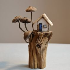 Measures approx x Miniature House Wooden House Driftwood House Forest House Rustic House Scandinavian House Village House Driftwood Art Reclaimed Wood Driftwood Projects, Wooden Projects, Driftwood Art, Wooden Crafts, Clay Houses, Miniature Houses, Miniature Dolls, Doll Houses, Small Wooden House