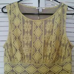 New Maxx Studio sleeveless dress New with tags deep yellow and nude dress. Sophia Max collection. Beautiful dress Max Studio Dresses