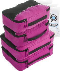 Packing Cubes 4pcs Value Set for Travel - Plus 6pcs Luggage Organizers Zip Bags #packingcubes #packingorganizer