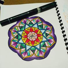 Gorgeous mandala by @capybaracafe using their Chameleon Pens! #chameleonpens #pen #marker #alcoholmarkers #markerpen #colour #color #colouring #coloring #mandala #mandaladesign #design #create