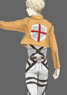 SnK AoT x Hetalia - England (Arthur Kirkland) as.. err... Levi?