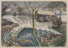John Nash 'Wild Garden, Winter', 1959 © Estate of John Nash. All Rights Reserved 2010 / Bridgeman Art Library Watercolor Landscape, Landscape Art, Landscape Paintings, Uk Landscapes, John Nash, Winter Images, Winter Landscape, Winter Garden, Deco