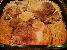 This recipe has been in my family for at least forty-five years.  I have no idea where it originated.It's easy to prepare, has few ingredients and the rice is so yummy. Great with a salad and green veggie.  Enjoy!