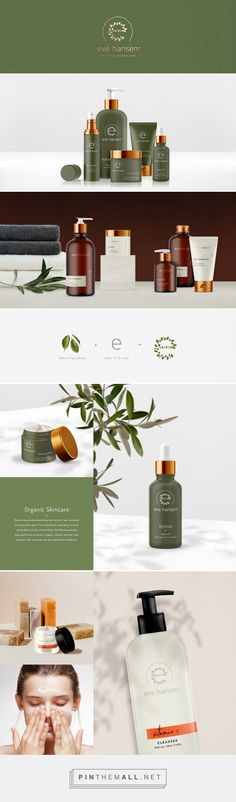 Eve Hansen on Behance. #branding visual identity, logo, packaging, skincare
