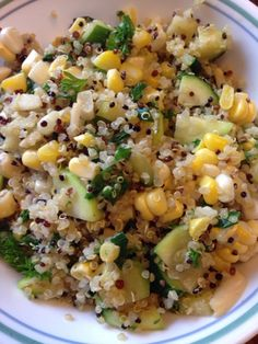 Green and Gold Quinoa Salad