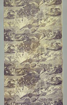 Battle scenes in Algeria (?) toile, ca 1805. Cooper-Hewitt/Smithsonian