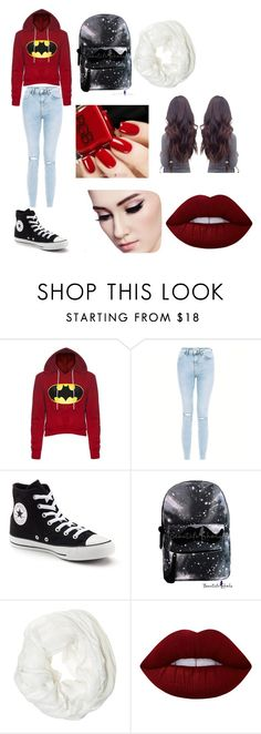 """""""Casual"""" by luvmeh25 ❤ liked on Polyvore featuring beauty, New Look, Converse, Betsey Johnson and Lime Crime"""