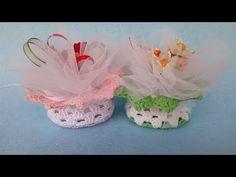 Sacchetto Bomboniera Uncinetto Tutorial - Bolsita Crochet - Saquinho Croche - YouTube Crochet Sachet, Projects To Try, Miniatures, Make It Yourself, Vastu Shastra, Blog, Nails, Youtube, Crochet Flowers