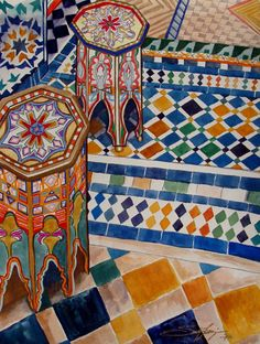 Moroccan inspired painting