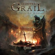 Tainted Grail: The Fall of Avalon. Co-op Board Game Geek, Board Games, Solitaire Games, Game Mechanics, Fantasy Authors, Celtic Mythology, Games Box, Games To Buy, Box Art