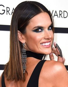 Grammys 2016: The Best Beauty Looks of the Night | People - Alessandra Ambrosia's sexy smoky eye makeup