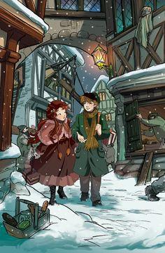 Fairy Oak-Vanilla and Grisam #ElisabettaGnone #libri #books #romanzo #novel #art #drawing #picture #sketch #draw #artist #illustration #pencil #reading #fable #fiaba