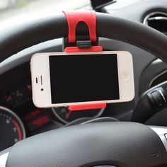 Universal Mobile Phone Gps Satnav Pda Car Steering Wheel Mount Holder Cradle Uk