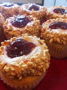 .peanut butter and jelly cupcakes