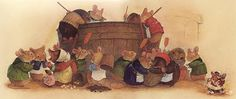 Christopher Denise - Redwall. He and Gary Chalk did such a brilliant job illustrating the books!!