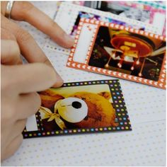 Message Instax Mini Film Frame Sticker Set -- dots, hearts -- $7.61