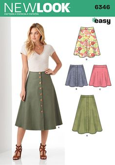 Simplicity Creative Group - Misses' Easy Skirts in Three Lengths