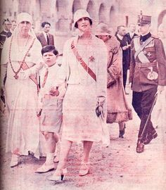 Queen Marie with daughter in law and grandchildren Adele, Michael I Of Romania, Romanian Royal Family, Daughter In Law, Imperial Russia, Royal Weddings, Kaiser, Ferdinand, Reign