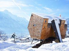 Ufogel: A Tiny Minimalist Holiday Hideaway Rises on Stilts in Austria