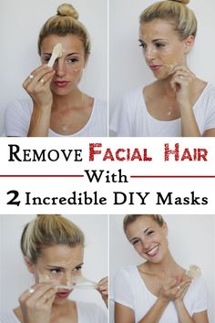 Remove Facial Hair With 2 Incredible DIY Masks