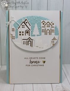 Stampin' Up! Hearts Come Home For the Happy Inkin' Thursday Blog Hop – Stamp With Amy K Christmas Cards 2017, Create Christmas Cards, Stamped Christmas Cards, Christmas Hearts, Christmas Card Crafts, Stampin Up Christmas, Christmas Settings, Noel Christmas, Xmas Cards