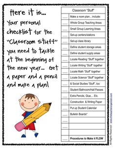 "The Teacher Organizer: Classroom Set-up 101: ""Classroom Stuff"""