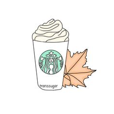 autumn, draw, and coffee image