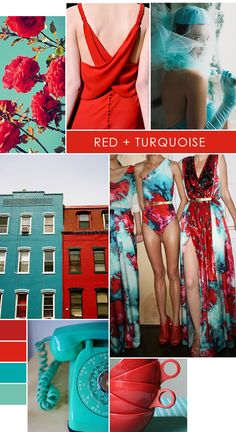 Color Crush - red and turquoise - wouldn't have naturally thought to put these two together but glad Kendra Scott has!