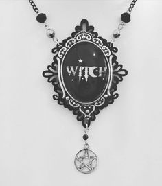 Gothic necklace, gothic jewellery, witch necklace, pagan necklace, pentagram necklace, acrylic necklace, gothic gift, layered pendant,occult