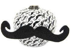 Duck Tape® Mustache Pumpkin #halloween #craft #pumpkin #ducktape