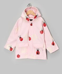 Take a look at this Light Pink Ladybug Raincoat - Infant, Toddler & Girls by Foxfire on #zulily today!