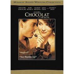 Chocolat, starring Johnny Depp and Juliette Binoche - love this movie